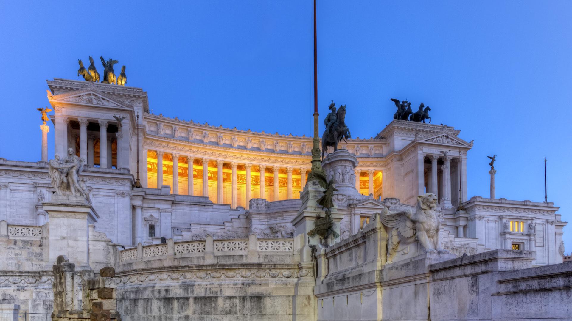 National Monument to Victor Emmanuel II, Altar of the Fatherland, Altare della Patria, in Rome, Italy