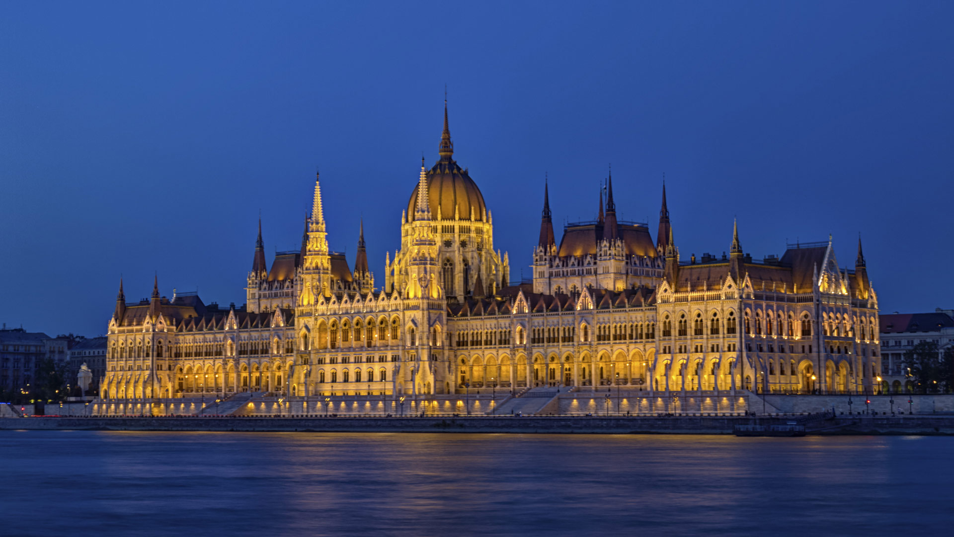 Hungarian Parliament Building in Budapest, Hungary, HDR