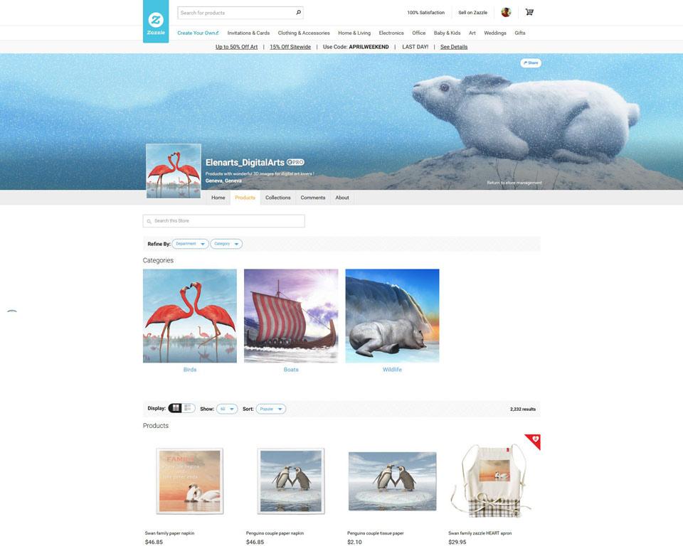 Visit Elenarts' DigitalArts Zazzle store