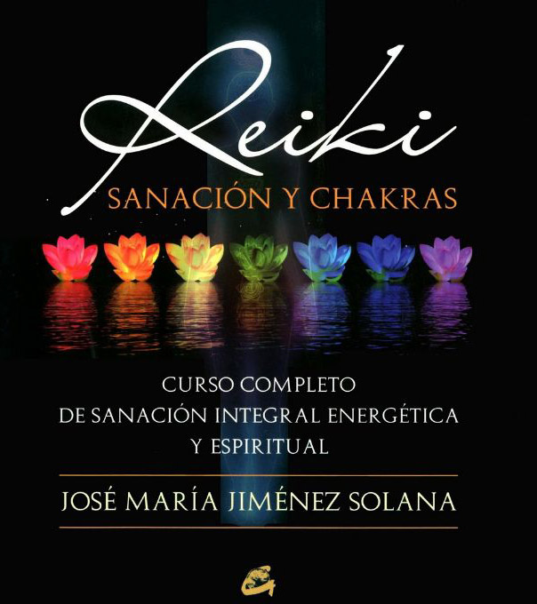 Reiki and chakras lesson book : lotus flowers with chakra colors to illustrate the cover