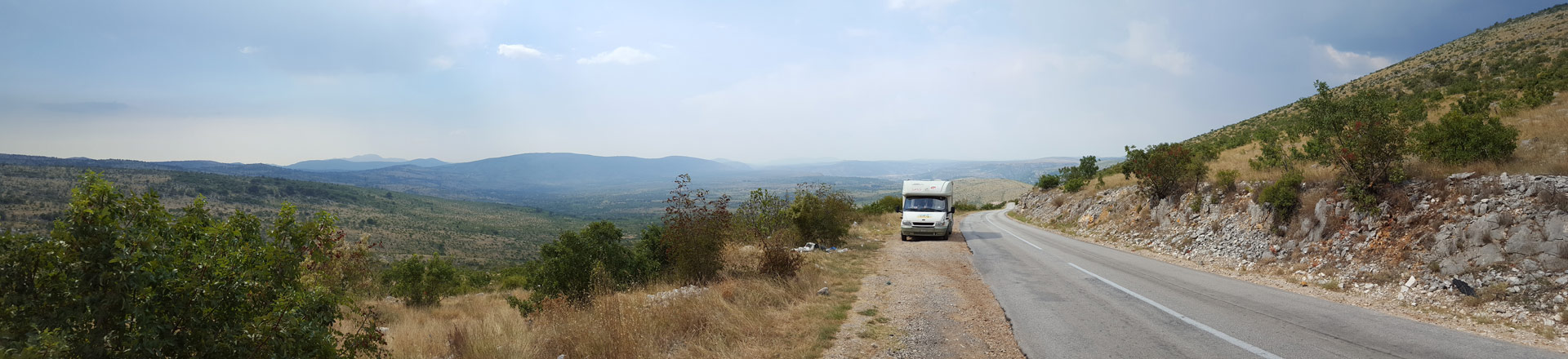 Camper on the road, Bosnia
