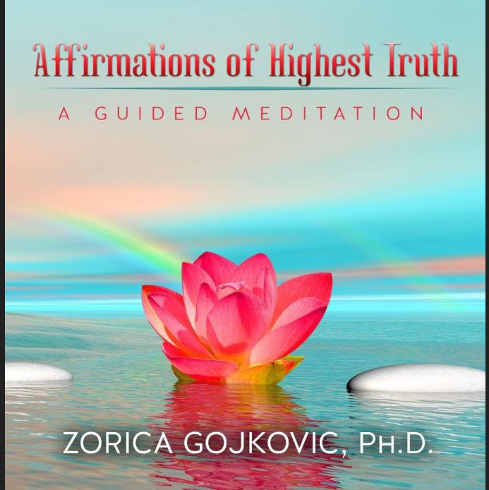 Guided meditation CD : lotus flower to illustrate the cover