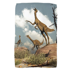 gallimimus dinosaurs zazzle hand towel