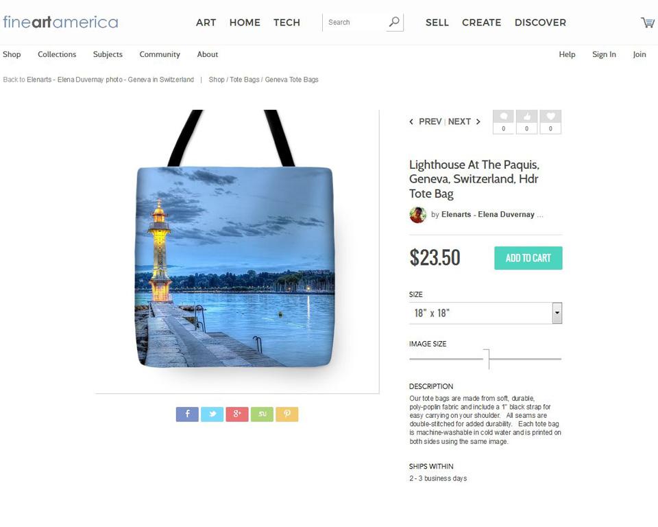Geneva lighthouse tote bag on fineartamerica