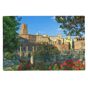 italy forum romano flowers day zazzle placemat