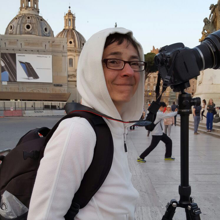 Elena tourist in Rome, Italy