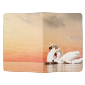 swan family zazzle passport holder