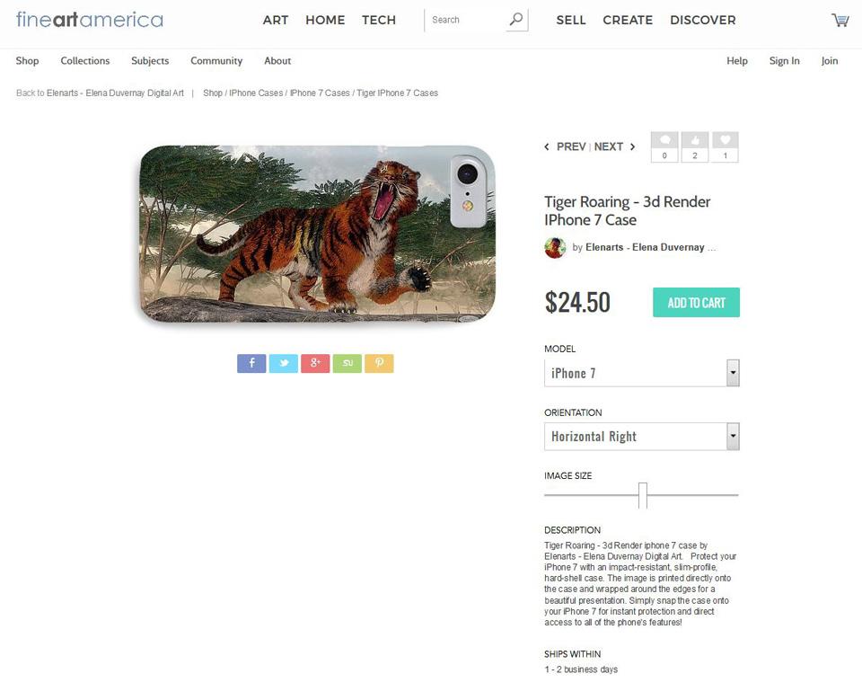 Tiger case on fineartamerica