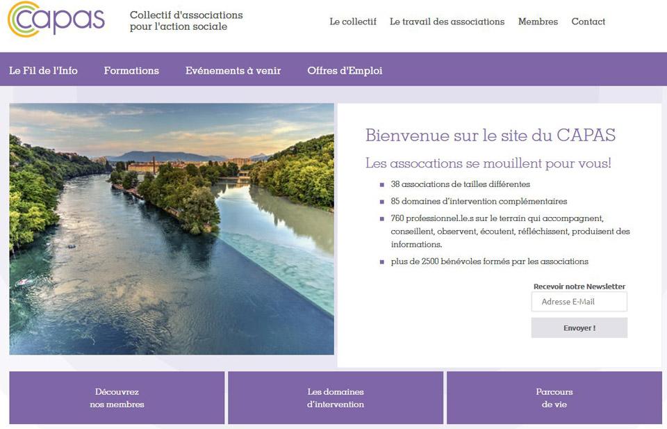 Capas association website, Geneva, Switzerland : Geneva Rhone and Arve junction photo to illustrate the site