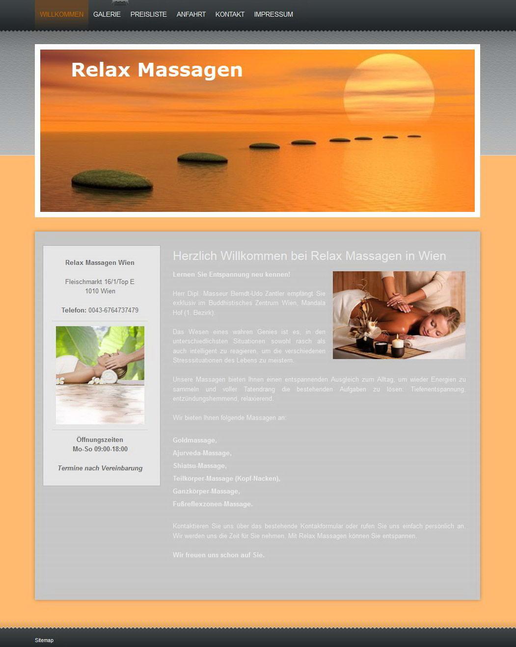 Massage website in Wien, austria : steps to the sun illustration.