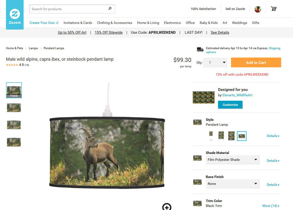 ibex pendant lamp