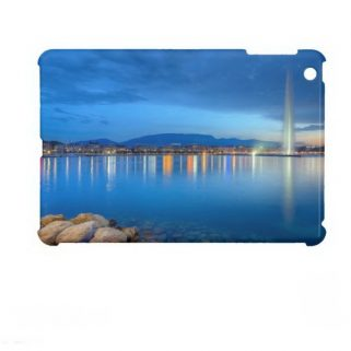 Geneva panorama with famous fountain, Switzerland, iPad Mini Case