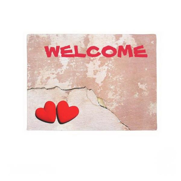 Happy Valentine's hearts doormat