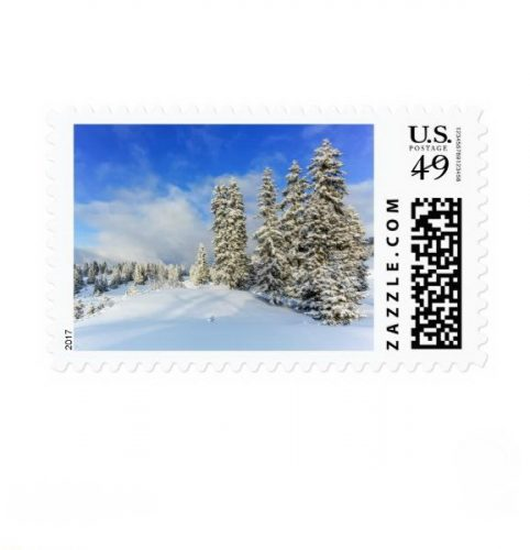 Jura mountain in winter, Switzerland Postage