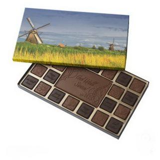 Windmills in Kinderdijk, Holland, Netherlands 45 Piece Box Of Chocolates