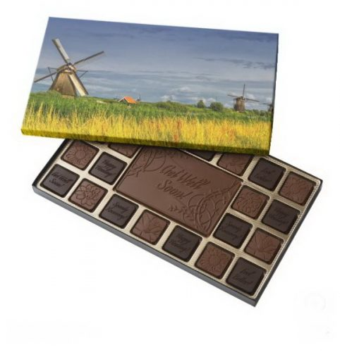 Windmills in Kinderdijk, Holland, Netherlands 45 Piece Box Of Chocolates