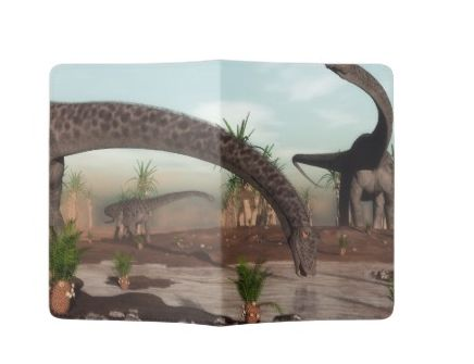 diplodocus dinosaurs passport holder
