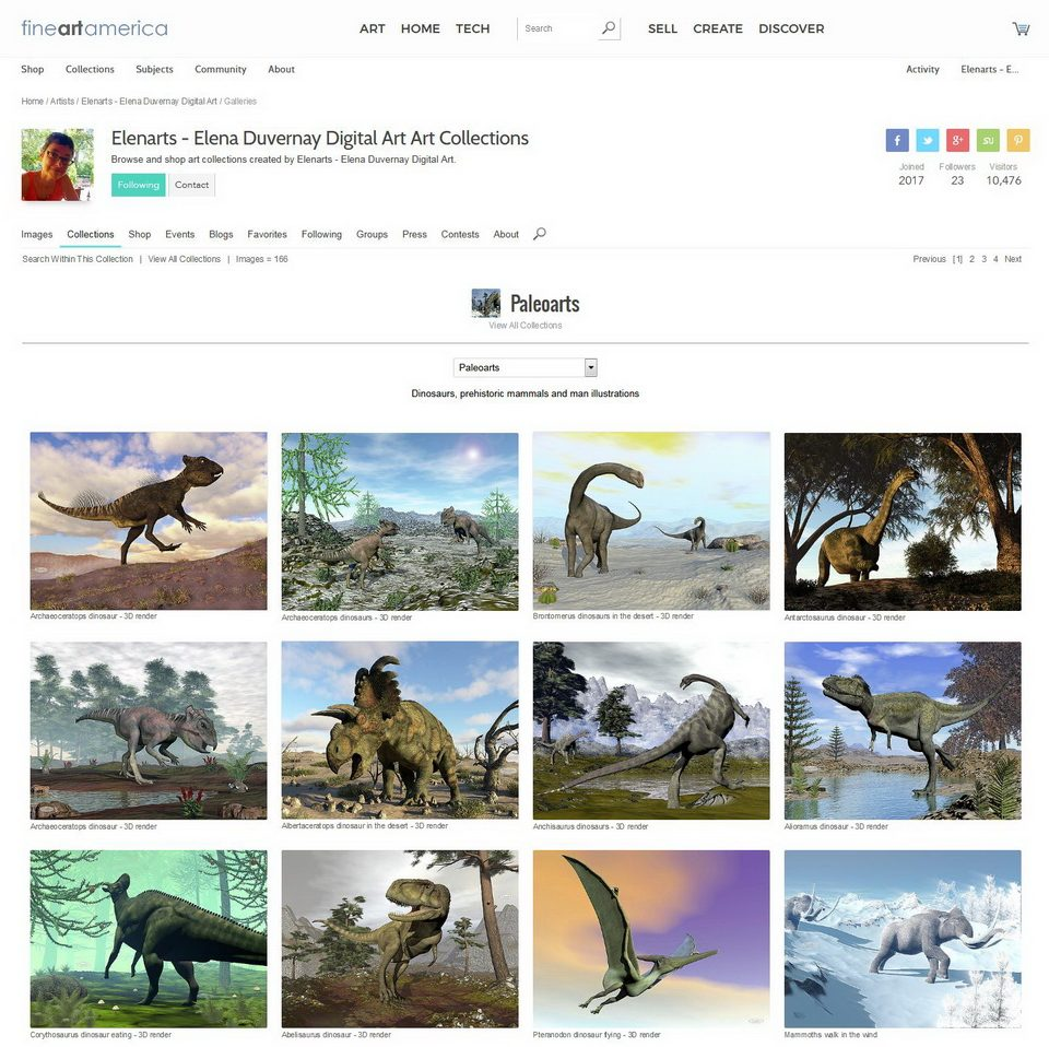 Visit FineArtAmerica Elenarts' PaleoArts portfolio