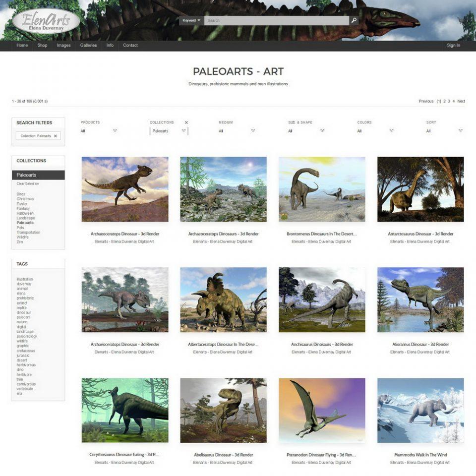 Visit Elenarts' Pixels PaleoArt portfolio